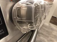 PLEASE CHECK SIZES TO AVOID RETURNS - SEE LAST IMAGES FOR MEASUREMENTS OR READ BELOW    Hi!  These clear plastic stove knob covers are extra large. We made them specifically because we simply could not find covers that fit our Samsung stove.   PLEAS...
