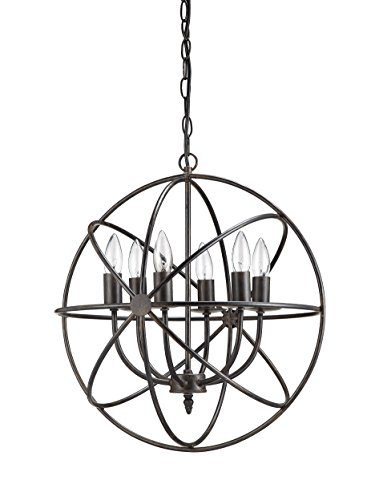 Cheap Creative Co-Op DA1616 Orbital Metal Hanging Chandelier with 6 Lights