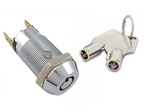 Key Switch Lock Momentary Spring Return Tubular Garage Safe 6 Keys per 2304SR