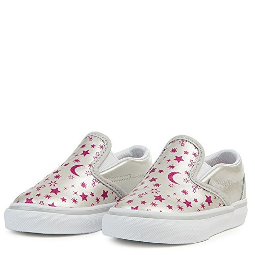 f6f9ab4cfc Vans Toddler s Classic Slip-On (Star Glitter) Microchip Glitter First  Walkers Shoes