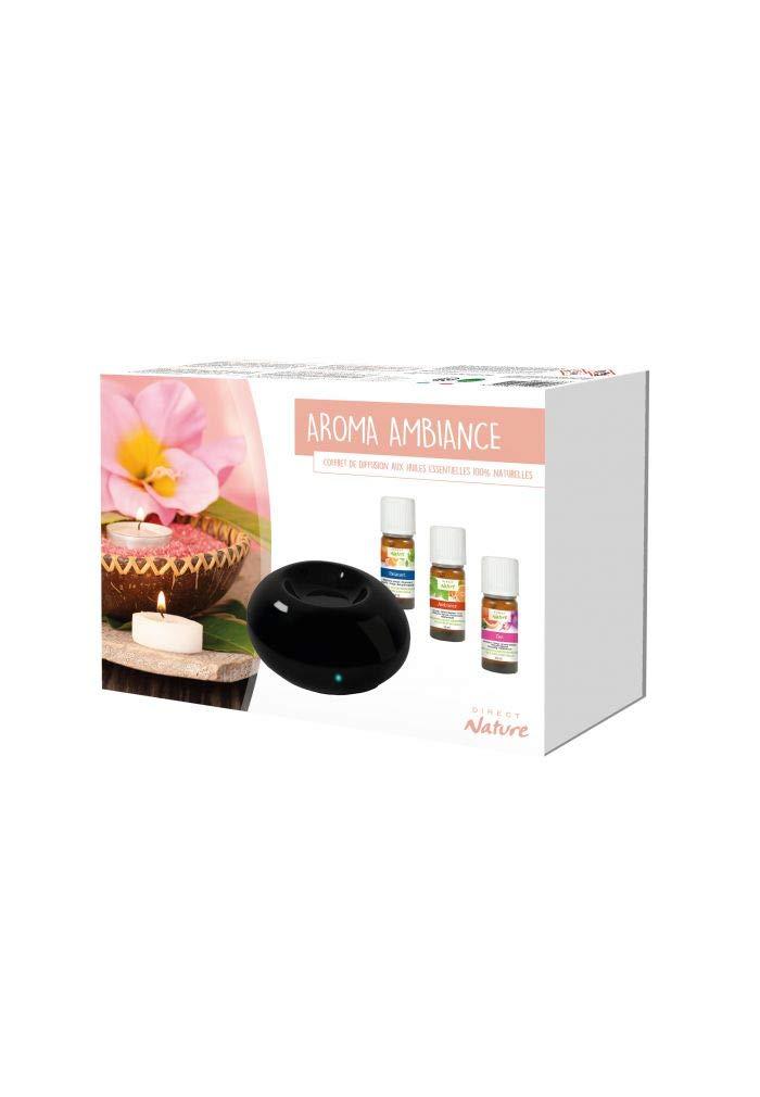 Coffret Aroma Maman comprenant : 1 Mini Aromablack - 1 Mé lange Zen 10ml -1 Mé lange Relaxant 10ml-1 Mé lange Ambiance 10ml Direct Nature DN046