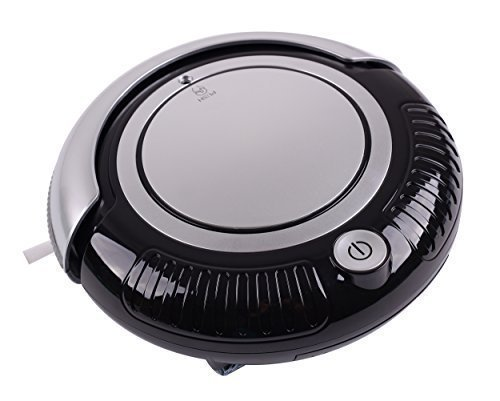 Liectroux Mini Robot Vacuum Cleaner 3 in 1 Multifunction (Vacuum, Sweep, Mop), 2 Side-brushes, Beautiful Flashing LED Lights, 3 Working Modes