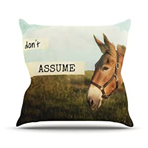 Kess InHouse Catherine McDonald Don't Assume Outdoor Throw Pillow, 20 by 20-Inch