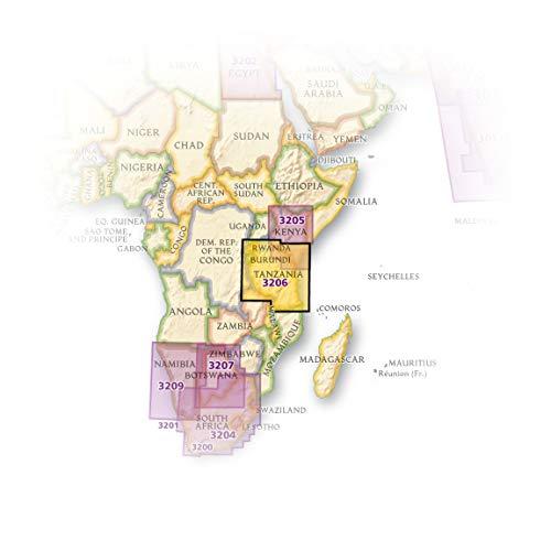 Tanzania, Rwanda, and Burundi (National Geographic Adventure Map)