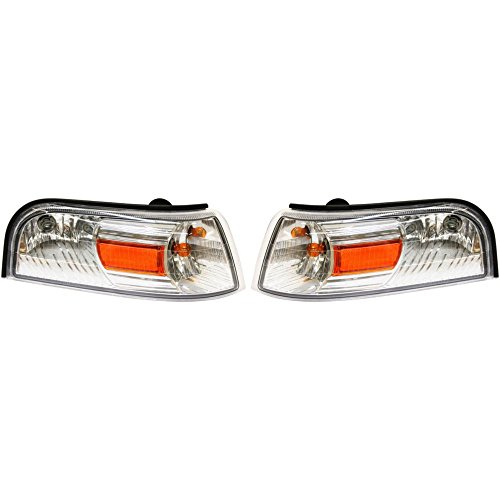 Corner Light Set of 2 compatible with 2006-2008 Mercury Grand Marquis Right and Left Side Assembly Park/Signal/Side Marker Lamp