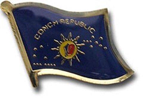 Key West Conch Republic Florida Flag Bike Motorcycle Hat Cap lapel (Republic Flag Lapel Pin)