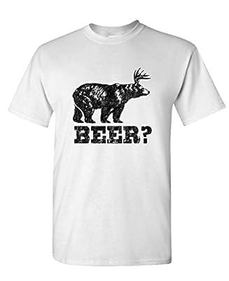 THE GOOZLER - RETRO DEER BEER BEAR - Mens Cotton T-Shirt
