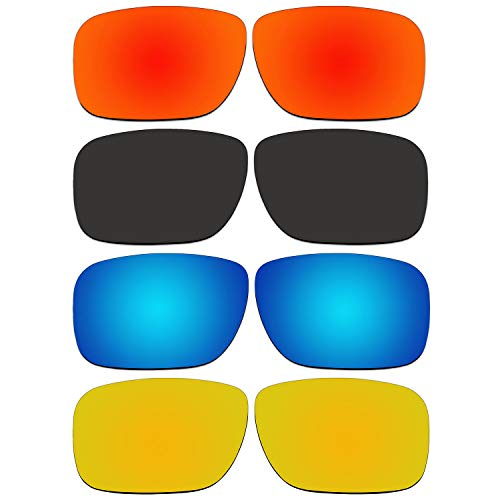 (4 Pair ACOMPATIBLE Replacement Lenses for Oakley Holbrook Sunglasses With Polarized Pack P3-1)