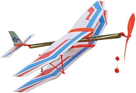 SM SunniMix Aereo Aeroplano Assemblaggio Lanciato Alimentato da Elastico  Bianco E Blu: Amazon.it: Giochi e giocattoli