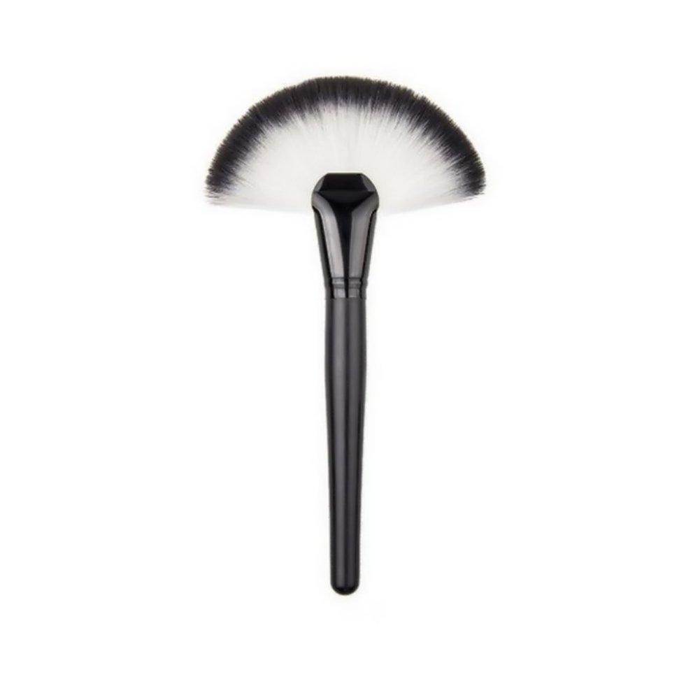 Sunsent 1 Piece Large Soft Fan Brush Blush Powder Highlighter Makeup Cosmetic Nylon Fiber Brushes