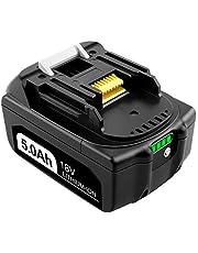 Advtronics BL1850B 5,0 Ah litiumbatteri kompatibelt med 18 V batterier BL1850 BL1860B BL1860 BL1840B BL1840 BL1830B BL1830 BL1835 BL1845 sladdlösa elverktyg med LED-indikator