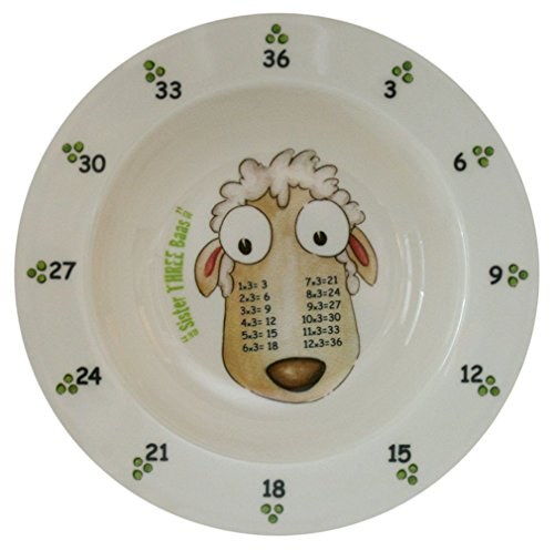 theMultiples Times Table Dinnerware Sister Three Baas 7.5 inch Melamine Rimmed Bowl 2 Rimmed Cereal Bowls