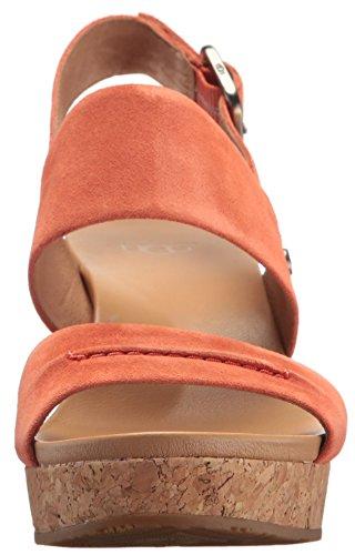 Wedge Sandal Vibrant Coral Elena Ugg Ii Women's Wedged 7X4Yqt