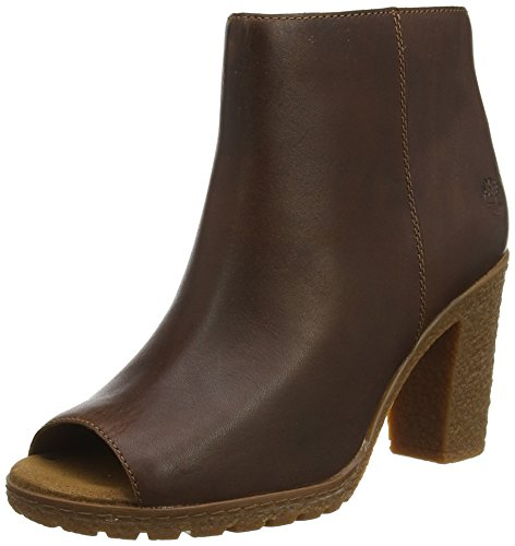 Timberland Tillston Peep-Toe, Botines Femme Marron (Wheat Tbl Forty H37)