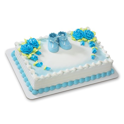 Blue Baby Booties DecoSet Cake Decoration