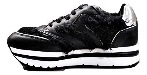 Para Zapatillas Mujer Piel Voile De Negro Blanche qA5wTnInpg