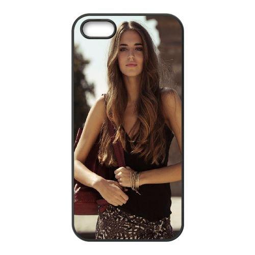 Girl Model Style Decorations 85713 coque iPhone 4 4S cellulaire cas coque de téléphone cas téléphone cellulaire noir couvercle EEEXLKNBC25379