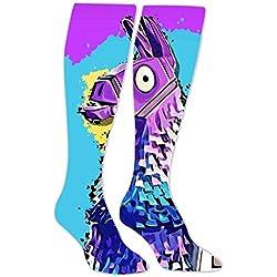 PIHJE Socks Long 50cm Cool_Llama Fashion High Socks for Women & Men Novelty Knee High Thigh Stockings Length 19.7Inch