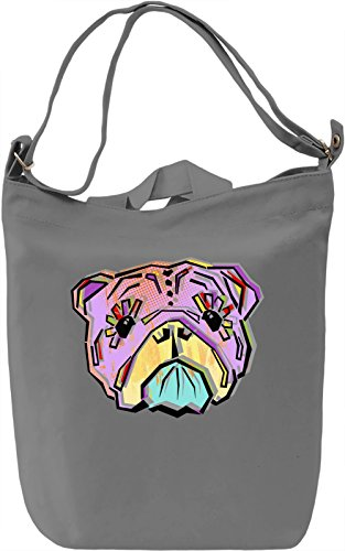 Sugar Skull Puppy Borsa Giornaliera Canvas Canvas Day Bag| 100% Premium Cotton Canvas| DTG Printing|