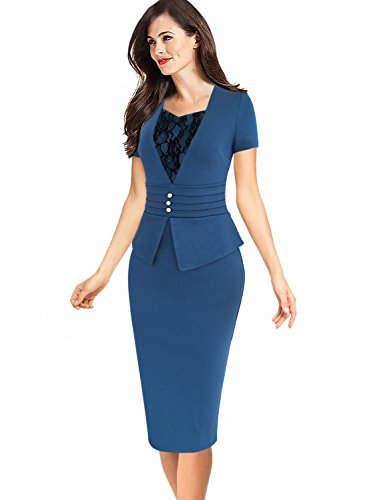 Buy belted peplum dress - 5