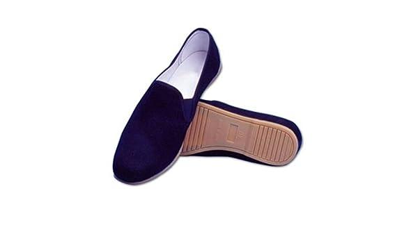 YORYU Zapatos Kung FU de Algodón con Suela Goma Tai Chi Negro Negro Size: 36
