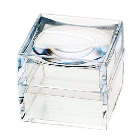 The Magni-Box, Pack Of Nine Size 25 Mm Acrylic Magnifying Magnifier Boxes. (Acrylic Boxes Small)