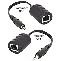 3.5mm Stereo Mini Audio Balun Extender Over Cat5/Cat6 Cable