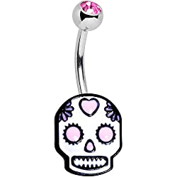 Body Candy 14G 316L Stainless Steel Navel Ring Piercing Glitter Unicorn Belly Button Ring 7//16 11mm