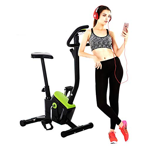 Indoor Ftness Equipment Stationary Exercise Bike Sports Bike Webbing Bike Resistance Generated By The Friction Between The Webbing And The Plate Calories Burned Indoor Cycling ( Color : Green ) ()