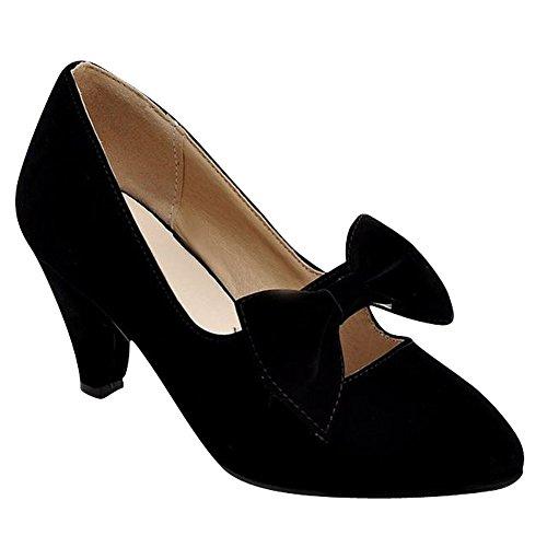 Nero Scarpe Con Fascino Da Shoes Eleganti Carol Donna Alto Fiocco Tacco qgvX4xSwSp