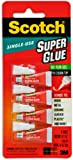 6 Pack of Scotch Single Use Super Glue Gel (0.5g. X 4 Tubes/pack) - AD119