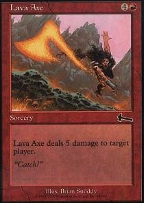 Magic: the Gathering - Lava Axe - Urza's Legacy - Foil