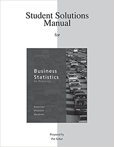 Student solutions manual for business statistics in practice student solutions manual for business statistics in practice 6th edition fandeluxe Image collections