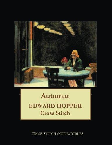 Automat, 1927: Edward Hopper cross stitch pattern