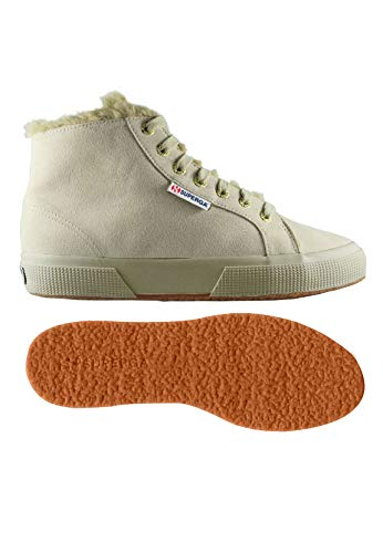Superga Dame-2795 Synshearlingw Beige Baskets Hohe (sable Plein 970)