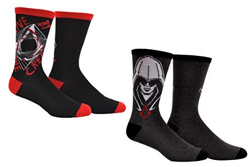 Assassin's Creed Socks Gifts (2 Pair) - (1 Size) Assassins Creed Merchandise Odyssey Crew Socks Women & ()