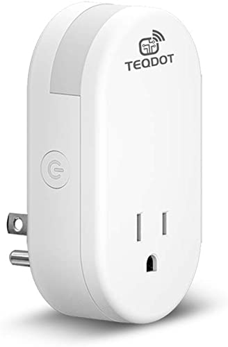 Smart Plug with Adjustable Night Light Wifi Smart Plug Compatible with Alexa Google Home Supports IFTTT No Hub Required Remote Control Scheduling Options Supports 2.4GHz Network 1 Pc