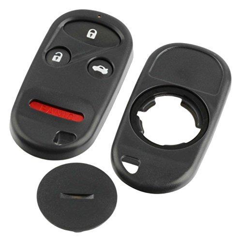 Key Fob Keyless Entry Remote Shell Case & Pad fits Honda 1996-2002 Accord/1997-2001 CR-V/1996-2000 Civic/2000-2006 Insight/1996-2004 Odyssey/2003-2007 Pilot