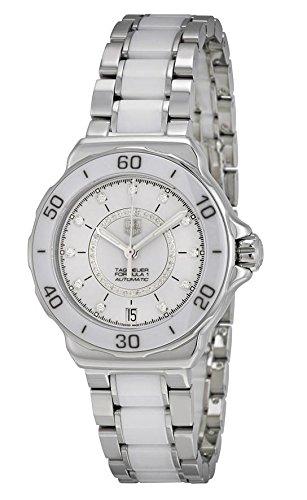 TAG Heuer - Reloj Analógico de pulsera, mujer, plateado: Amazon.es: Relojes
