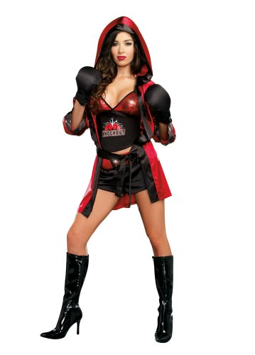 [Dreamgirl Women's Knockout, Multi, Large] (Knock Out Costumes)