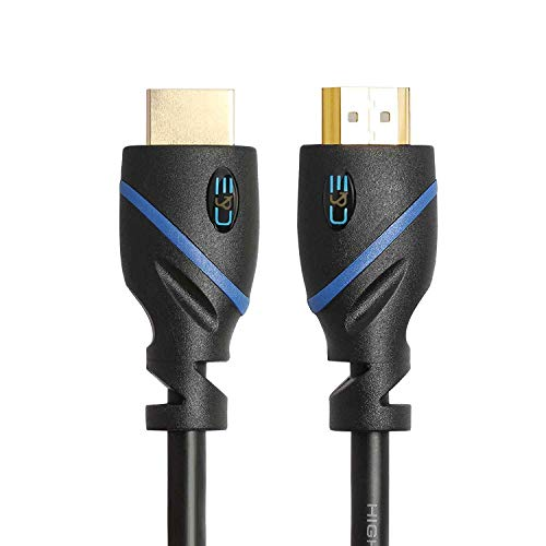 (6 FT (1.8 M) High Speed HDMI Cable Male to Male with Ethernet Black (6 Feet/1.8 Meters) Supports 4K 30Hz, 3D, 1080p and Audio Return)