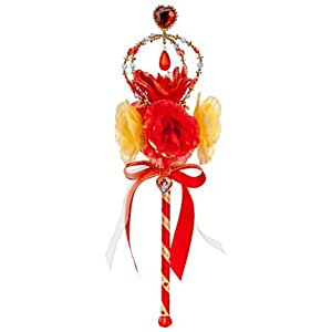 Snow White Princess Wand with Red Flowers - Costume Accessory, Dress-up