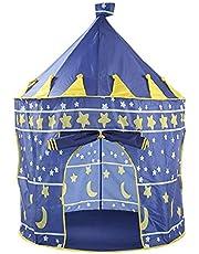 المنبثقة تلعب خيمة أطفال فتاة الأميرة قلعة في الهواء الطلق خيمة البيت المحمولة - الأزرق
