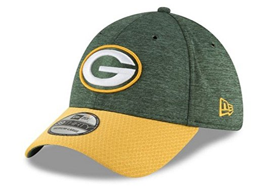 New Era 2018 3930 NFL Green Bay Packers Sideline Home Hat Cap Flex Fit (S/M)