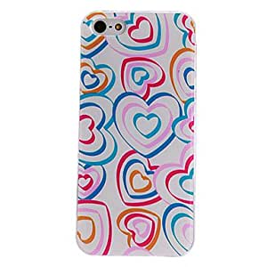JOE Heart Shape Rings Pattern PC Hard Case with Transparent Frame for iPhone 5/5S
