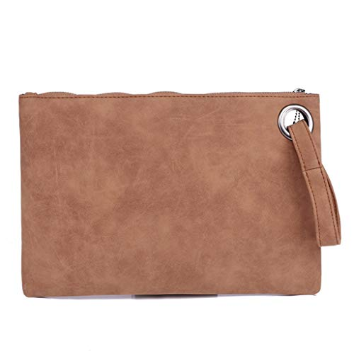 Big Promotion!!!Women's wool ball solid color leather zipper multi-function coin purse clutch bag mobile phone bag from HYIRI