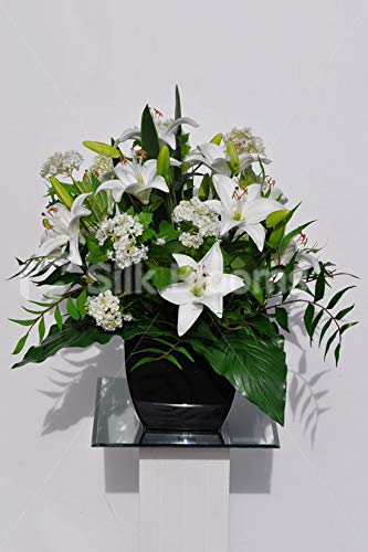 Silk Blooms Ltd Artificial White Fresh Touch Oriental Lily And