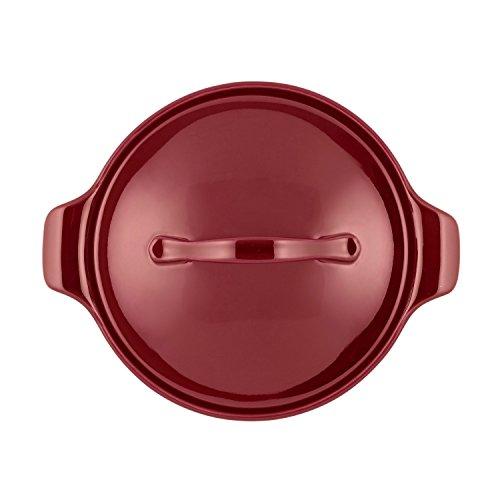Anolon Vesta Stoneware Round Casserole, 18 oz, Paprika Red