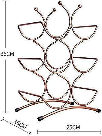 CCLLA Portabotellas autoportante sobre encimera  Porta Botellas de Vino de Metal  Soporte para Botella de Agua A + (Dimensiones: 25x16x36 cm)