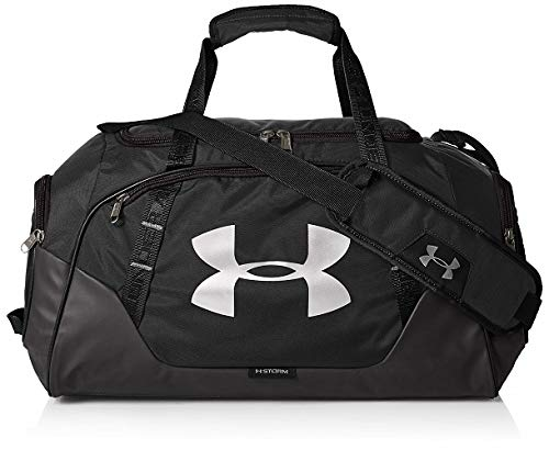 Under Armour Undeniable Duffle 3.0 Gym Bag, Black (001)/Silver, One Size Fits All